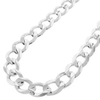 Sterling Silver 12mm Solid Cuban Curb Link ITProLux Chain Necklace