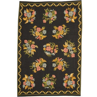 Herat Oriental Indo Hand-knotted Tribal Aubusson Wool Rug (5'10 x 8'6)