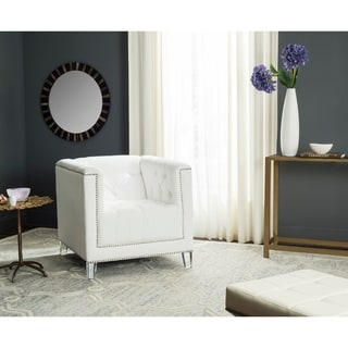 Safavieh Carine White/ Clear Club Chair