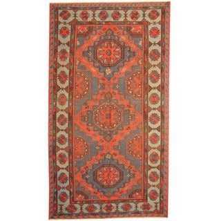 Herat Oriental Russian Hand-woven 1940s Semi-antique Tribal Wool Soumak Kilim (6'2 x 10'10)