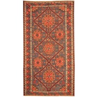 Handmade Herat Oriental Russian 1940s Semi-antique Tribal Wool Soumak Kilim (Russia) - 6' x 11'