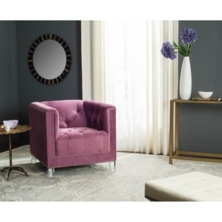 Safavieh Carine Plum/ Clear Club Chair