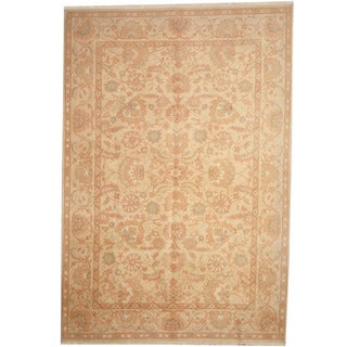 Herat Oriental Afghan Hand-knotted Tribal Oushak Wool Rug (6'6 x 10')