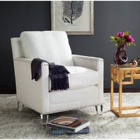 Safavieh Jensen White/ Clear Club Chair