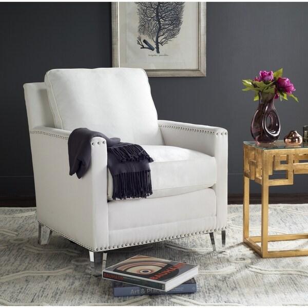 Shop Safavieh Jensen White Clear Club Chair On Sale