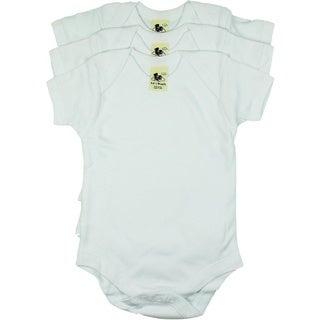 Soft'n Snuggly White Short Sleeve Bodysuit (3 Pack)