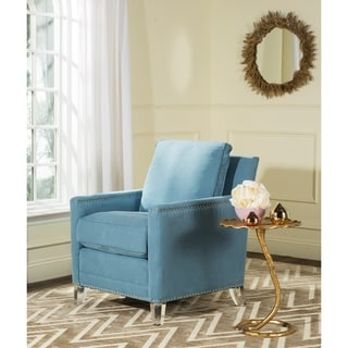 Safavieh Jensen Blue/ Clear Club Chair