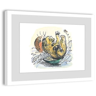 Marmont Hill 'Whoosh' Paddington Bear by Peggy Fortnum Painting Print on Frame Print