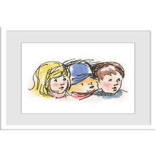 Marmont Hill 'Friends' Paddington Bear by Peggy Fortnum Painting Print on Frame Print