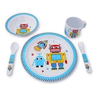 Culina Kids Robot Melamine 5-piece Dinnerware Set