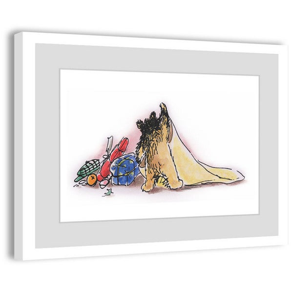 Marmont Hill 'Blankie' Paddington Bear by Peggy Fortnum Painting Print on Frame Print