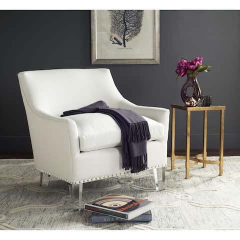 "Safavieh Wylder White/ Clear Club Chair - 31.3"" x 32.3"" x 31.9"""