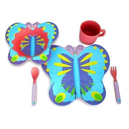 Shop Culina Kids Butterfly 5 Piece Dinnerware Set Free Shipping On