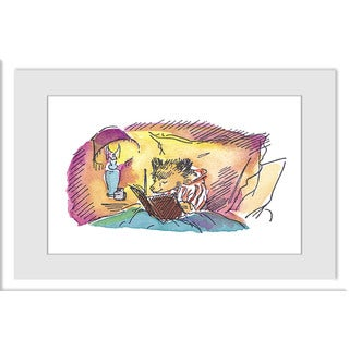 Marmont Hill 'Bedtime Story' Paddington Bear by Peggy Fortnum Painting Print on Frame Print