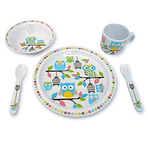 Culina Kids Melamine Owl 5-piece Dinnerware Set