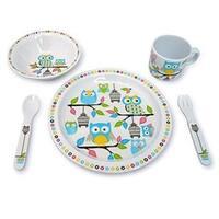 Culina Kids Melamine Owl 5-piece Dinnerware Set