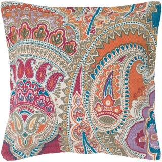 Rizzy Home Paisley Patterned 22-inch Throw Pillow