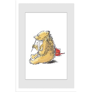 Marmont Hill 'Thinking' Paddington Bear by Peggy Fortnum Painting Print on Frame Print