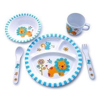 Culina Kids Lion Melamine 5-piece Dinnerware Set