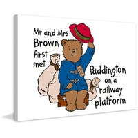 Marmont Hill 'Mr. and Mrs. Brown 2' Paddington Bear Painting Print on Canvas - Multi-color