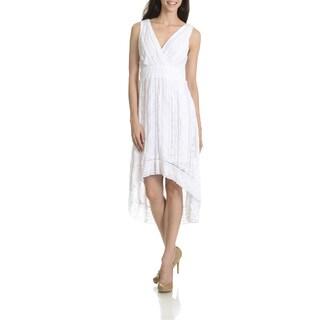 Rabbit Rabbit Rabbit Women's Lace High-Low Dress https://ak1.ostkcdn.com/images/products/11408644/P18373275.jpg?_ostk_perf_=percv&impolicy=medium