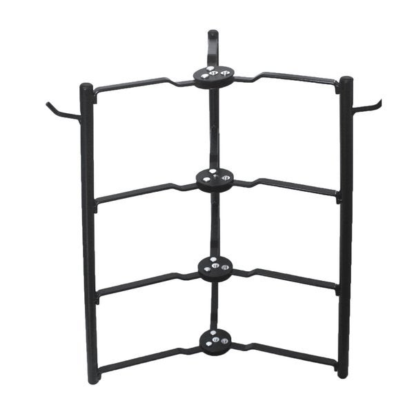 Cook N Home Pot/Pan Rack Cabinet And Pantry Organizer, Black