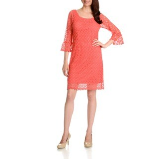 Rabbit Rabbit Rabbit Women's Cinched Bell Sleeve Dress (Option: 14)