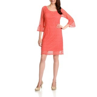 Rabbit Rabbit Rabbit Women's Cinched Bell Sleeve Dress (More options available)