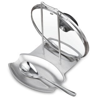Cook N Home Stainless Steel Spoon and Lid Rest