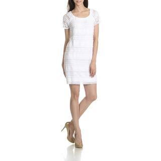 Rabbit Rabbit Rabbit Women's All Over Lace Short Sleeve Dress https://ak1.ostkcdn.com/images/products/11408664/P18373274.jpg?impolicy=medium
