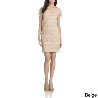 Rabbit Rabbit Rabbit Women's All Over Lace Short Sleeve Dress (More options available)