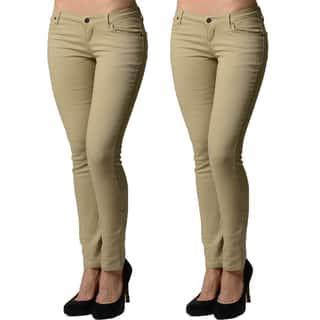 Dinamit Juniors 5 Pocket Skinny Uniform Pant (2 Pack) https://ak1.ostkcdn.com/images/products/11408681/P18373306.jpg?impolicy=medium