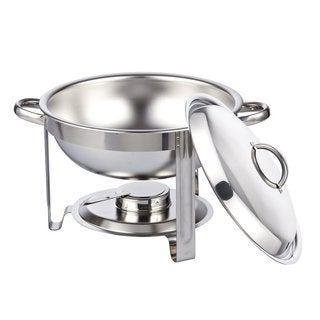 Cook N Home Stainless Steel 5-quart Round Chafing Dish Chafer with Lid