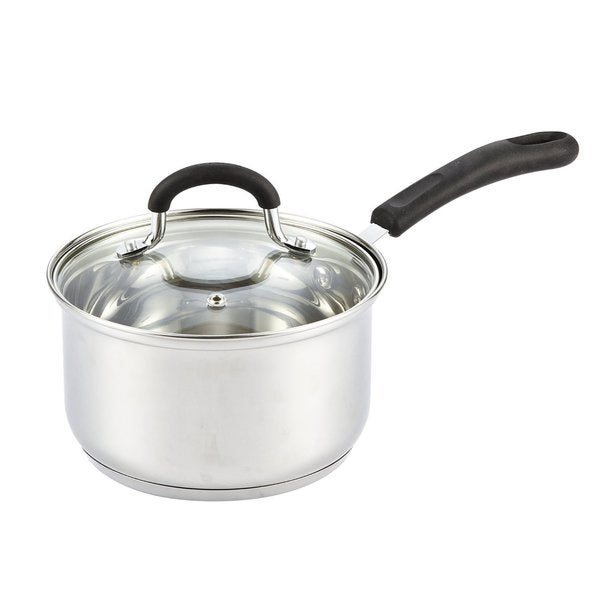 Cook N Home 2-Quart Stainless Steel Saucepan Cookware with Lid, Medium. Opens flyout.