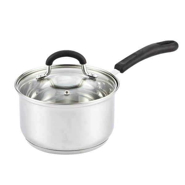 Shop Black Friday Deals On Cook N Home 2 Quart Stainless Steel Saucepan Cookware With Lid Medium Overstock 11408697
