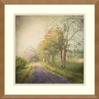 Dawne Polis 'Sweet Road' Framed Art Print 17 x 17-inch
