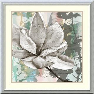 Jennifer Goldberger 'Pastel Magnolias II' Framed Art Print 24 x 24-inch