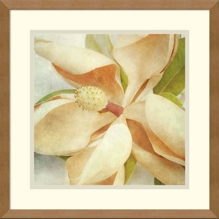 Honey Malek 'Vintage Magnolia I' Framed Art Print 17 x 17-inch