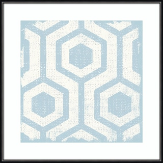 Michael Mullan 'Winter Lattice Tile VIII' Framed Art Print 16 x 16-inch