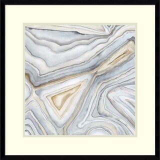 Framed Art Print 'Agate Abstract I' by Megan Meagher 23 x 23-inch
