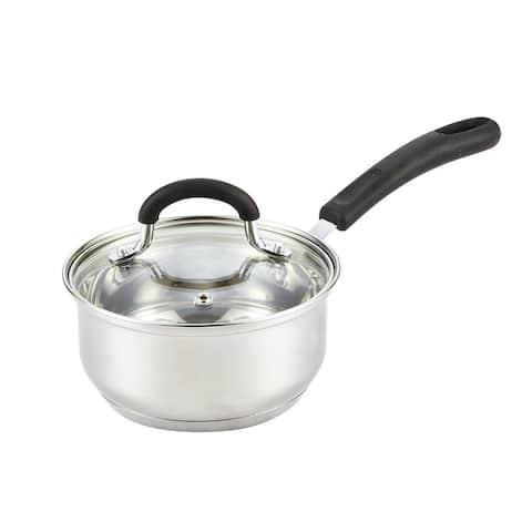 Cook N Home 1-Quart Stainless Steel Saucepan with Lid