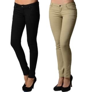 Dinamit Juniors 5 Pocket Skinny Uniform Pant (2 Pack)|https://ak1.ostkcdn.com/images/products/11408728/P18373304.jpg?impolicy=medium