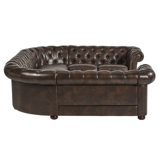 Knightsbridge Tufted Scroll Arm Chesterfield 9-seat U-shaped Sectional by SIGNAL HILLS