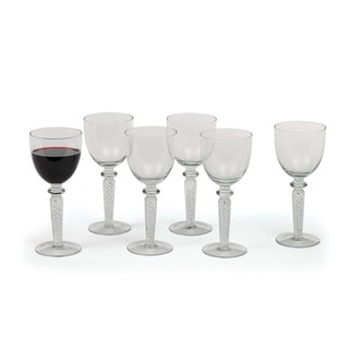 Hip Vintage Coil Red Wine Goblets (Set of 6)
