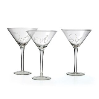 Set of Twelve Cursive Martini
