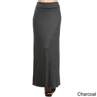 MOA Collection Women's Solid Maxi Skirt (3 options available)