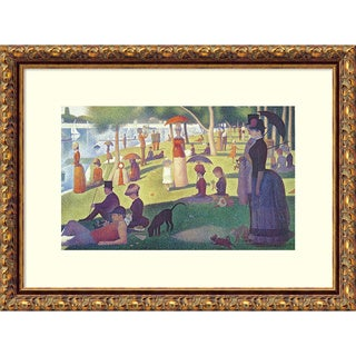 Georges Seurat 'Sunday Afternoon on the Island of Grand Jatte 1864-6 (II)' Framed Art Print 18 x 13-inch