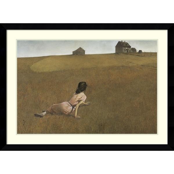 Andrew Wyeth Christina S World Framed Art Print 43 X 31