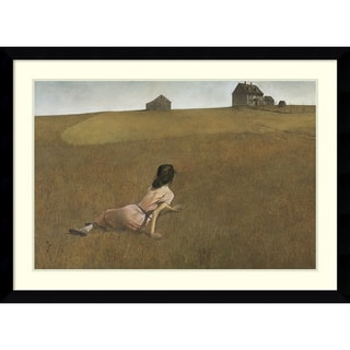 Link to Framed Art Print 'Christina's World' by Andrew Wyeth Similar Items in Art Prints