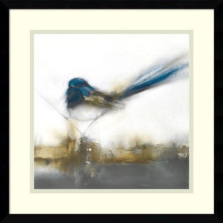 Framed Art Print 'Little Blue II (Bird)' by J.P. Prior 17 x 17-inch